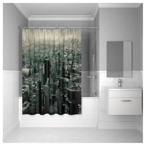 Штора для ванной IDDIS 610P18Ri11 180x200 Megapolis штора для ванной iddis basic 180x200 белая b53p218i11
