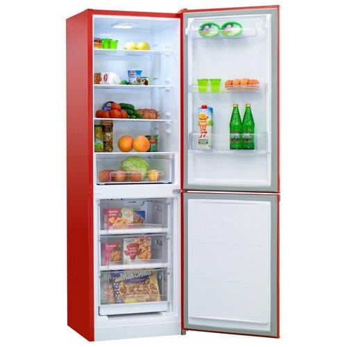 Двухкамерный холодильник NordFrost NRB 152 NF 832 красный
