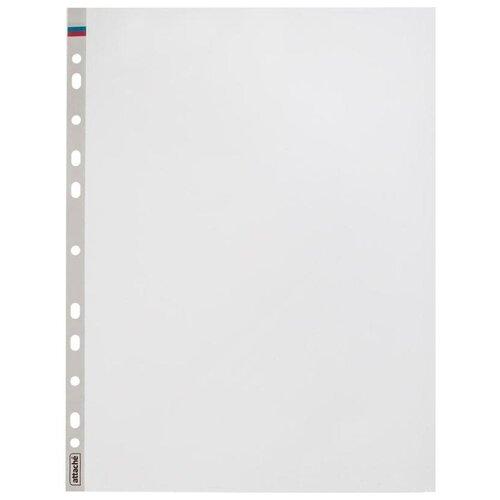 Купить Attache Файл-вкладыш Триколор А4 с перфорацией, 35 мкм, 100 штук бесцветный, Файлы и папки