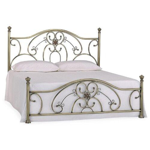 Кровать TetChair ELIZABETH двуспальная, размер (ДхШ): 208х184 см, спальное место (ДхШ): 200х180 см, каркас: массив дерева, цвет: античная медь