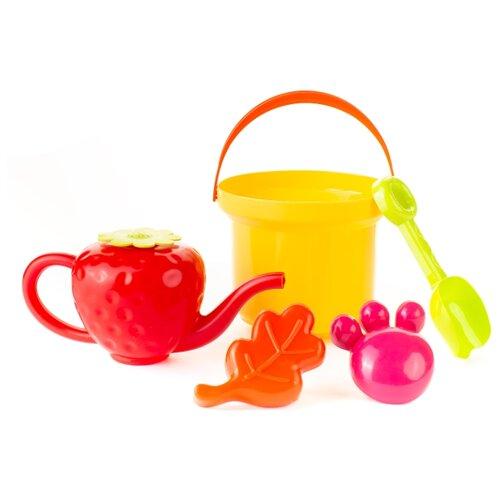 Купить Набор Росигрушка Клубничка 4128 желтый/красный/зеленый/розовый, Наборы в песочницу