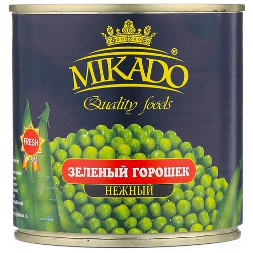 Горошек зелёный Mikado, жестяная банка 400 г mikado sms 011 1 0 г