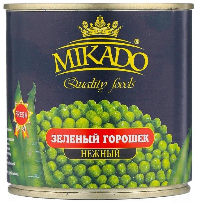 Горошек зелёный Mikado, жестяная банка 400 г