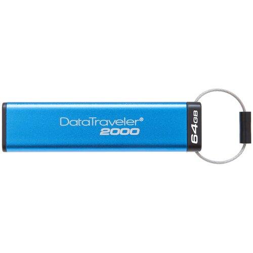 Фото - Флешка Kingston DataTraveler 2000 64 GB, синий флешка kingston datatraveler 106 64 gb черный красный