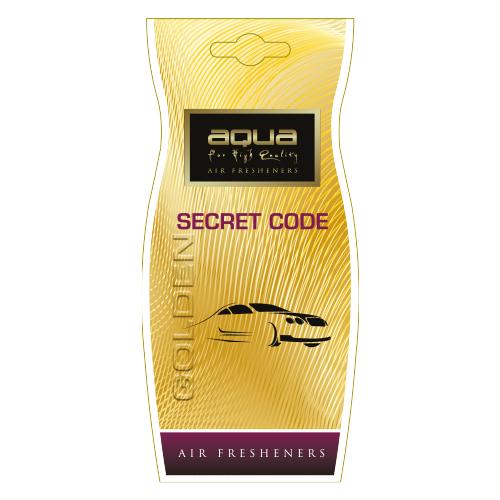 Aqua Ароматизатор для автомобиля Golden Drop Secret Code 12 г Aqua   фото