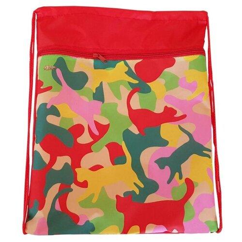 №1 School Мешок для обуви Crazy Cats (1017940) розовый/желтый 1 school мешок для обуви клетка розовая 1017935 розовый