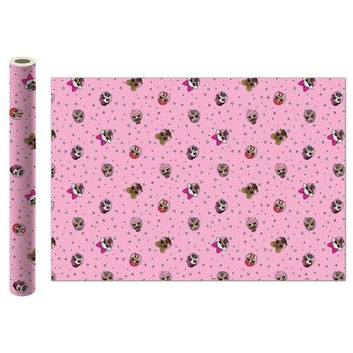 Фото - Бумага упаковочная ND Play L.O.L. 100х70 см, 2 шт розовая бумага упаковочная принцесса 700 1000мм 2 шт