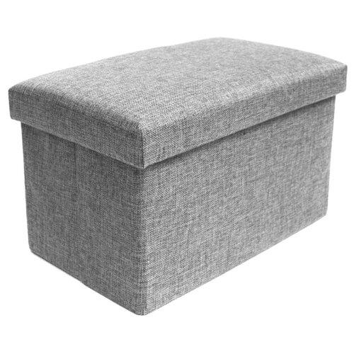 Пуфик с ящиком для хранения Удачная покупка RYP57-40 лен серый пуфик с ящиком для хранения тематика складной рогожка коричневый