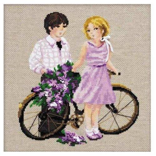 Купить Риолис Набор для вышивания Весенняя прогулка 30 х 30 см (1237), Наборы для вышивания