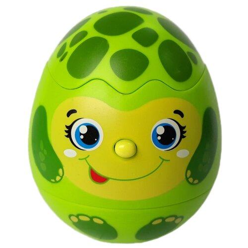 Купить Интерактивная развивающая игрушка Азбукварик Яйцо-сюрприз Черепашка зеленый, Развивающие игрушки