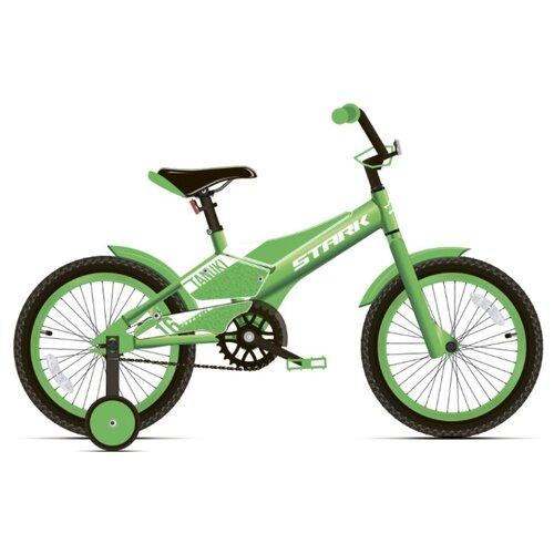 Детский велосипед STARK Tanuki 16 Boy (2020) зеленый/белый (требует финальной сборки)