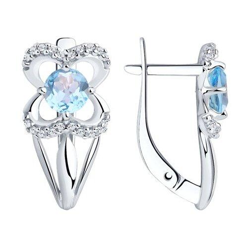 Diamant Серьги из серебра с топазами и фианитами 94-320-00381-1 фото