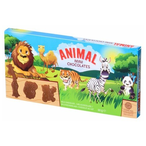 Фигурный шоколад Steenland Animal набор фигурок из молочного шоколада