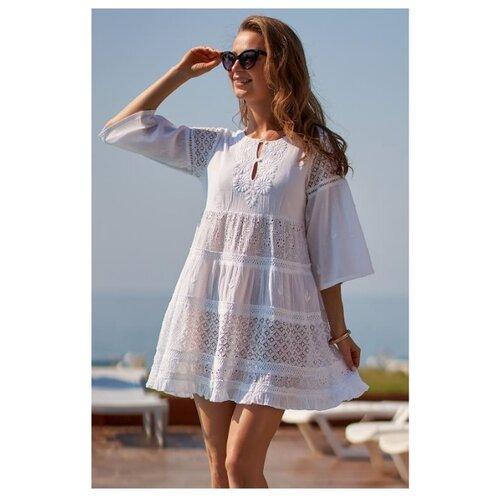 Пляжная туника MIA-AMORE Argentina размер XS белый платье oodji ultra цвет красный белый 14001071 13 46148 4512s размер xs 42 170