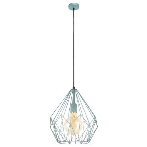Потолочный светильник Eglo Carlton 1 49259, E27, 60 Вт, кол-во ламп: 1 шт., цвет арматуры: голубой потолочный светильник eglo 94635 e27 60 вт