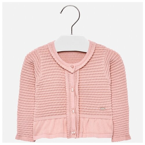 Кардиган Mayoral размер 92, розовый платье mayoral размер 92 белый розовый