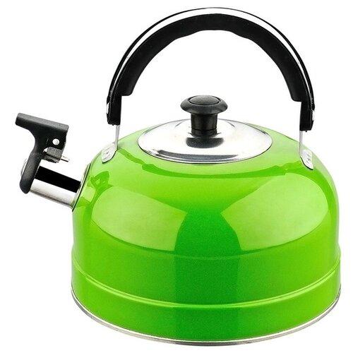 Irit Чайник со свистком IRH 2.5 л, зеленый набор форм для выпечки irit irh 924