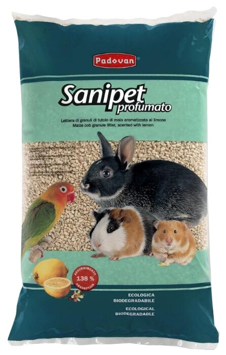 Наполнитель кукурузный Padovan Sanipet Profumato 4 л