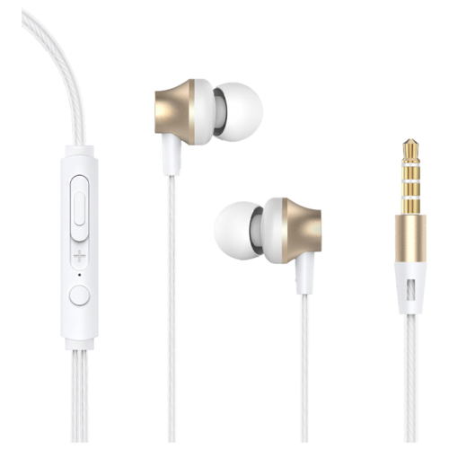 Фото - Наушники Devia Metal In-ear Wired Earphone gold devia cookee bluetooth earphone black 25923