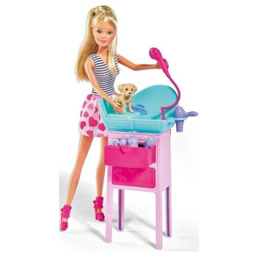 Купить Кукла Steffi Love Штеффи с двумя собачками и столиком, 29 и 12 см, 5733266, Simba, Куклы и пупсы