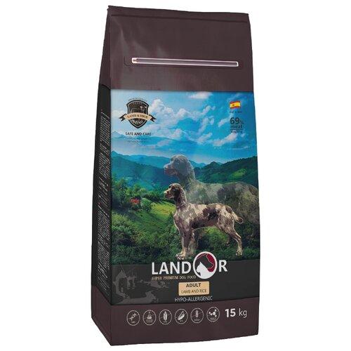 Сухой корм для собак Landor (15 кг) Adult Lamb with Rice с мясом ягненка 15 кг сухой корм для собак landor 3 кг adult lamb with rice с мясом ягненка 3 кг