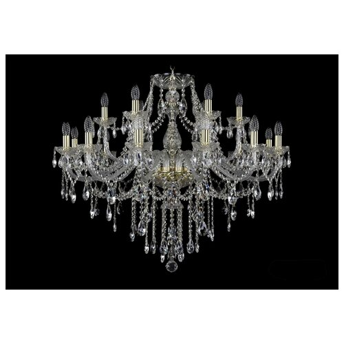 Фото - Люстра Bohemia Ivele Crystal 1415 1415/12+6/360/G, E14, 720 Вт люстра bohemia ivele crystal 7201 72301 12 360 b g e14