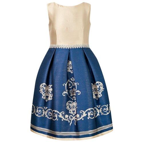 Платье Lesy размер 140, золотой/синий