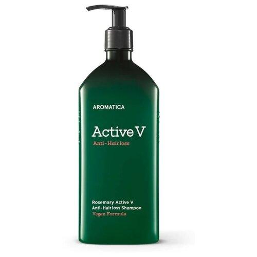 Aromatica шампунь Rosemary Active V против выпадения волос, 400 мл ducray неоптид лосьон от выпадения волос для мужчин 100 мл