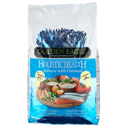 Корм для собак Golden Eagle (12 кг) Holistic Health Salmon with Oatmeal Formula 22/12 корм для собак golden eagle 2 кг hypo allergenic salmon