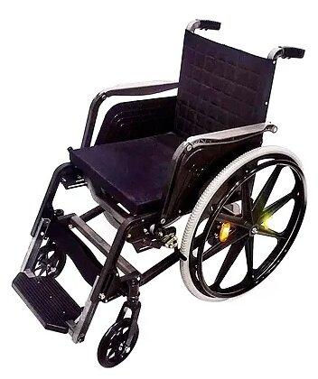 Кресло-коляска механическое ИНКАР-М КАР-3, узкие пневматические шины, ширина сиденья: 440 мм