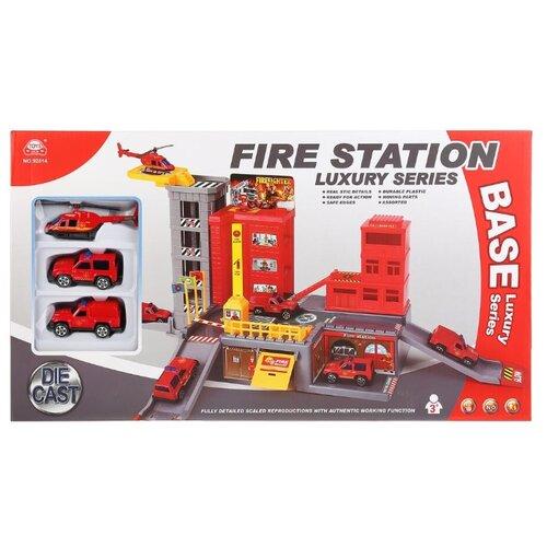 HLD Toys&Crafts Factory Fire Station 92814 красный/желтый/серый hld toys игровой набор парковка 1