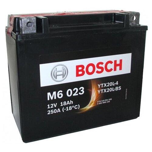 Мото аккумулятор Bosch M6 023 AGM (0 092 M60 230)