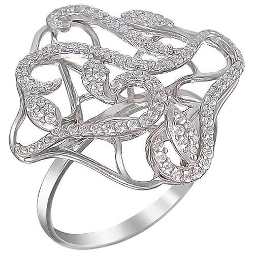 Эстет Кольцо с 93 циркониями из серебра С3К152967, размер 17.5 эстет золотые серьги с куб циркониями nd1241558
