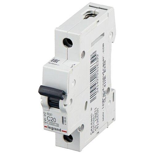 Автоматический выключатель Legrand RX3 1P (C) 4,5kA 20 А