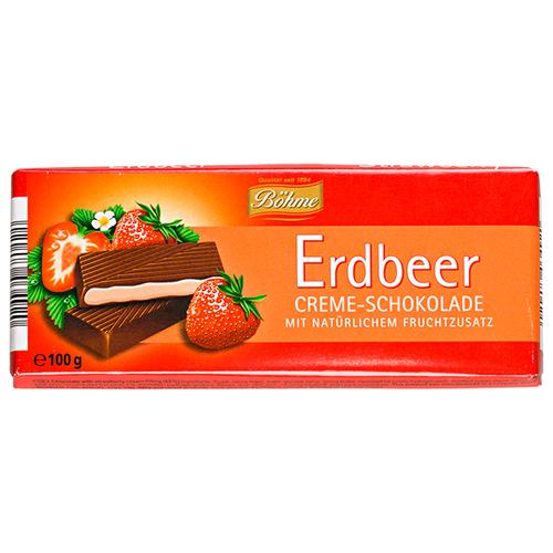 Фото - Шоколад Bohme Erdbeer темный с кремово-клубничной начинкой, 100 г шоколад lindt excellence темный с чили 100 г
