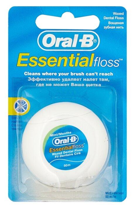 Зубная нить Oral-B Essential floss вощеная 50м