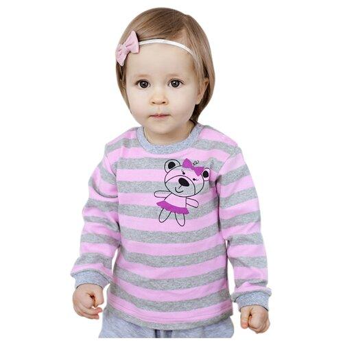 Лонгслив Лапушка размер 62, серый/розовый