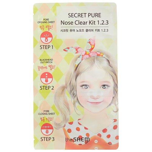 Фото - The Saem пластырь Secret Pure Nose Clear Kit 1•2•3 для удаления черных точек, 12 г пластыри от черных точек mj care 3 step koala nose clear solution 7г
