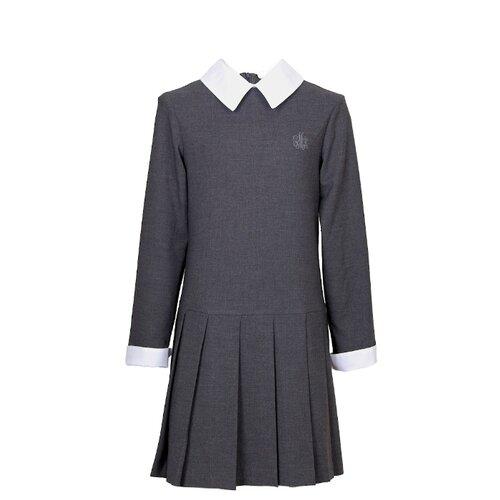 Платье Смена размер 158/80, серый