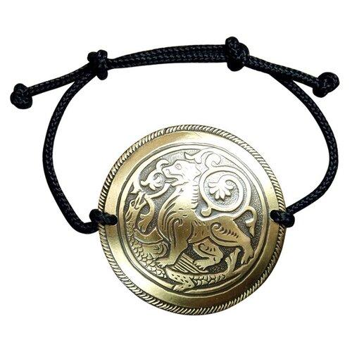 Мастерская Алёшиных Браслет-шнурок чёрный Суздальский лев