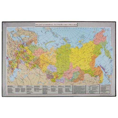 Настольное покрытие Attache Россия и сопредельные государства 46960, 380х590 мм Карта России