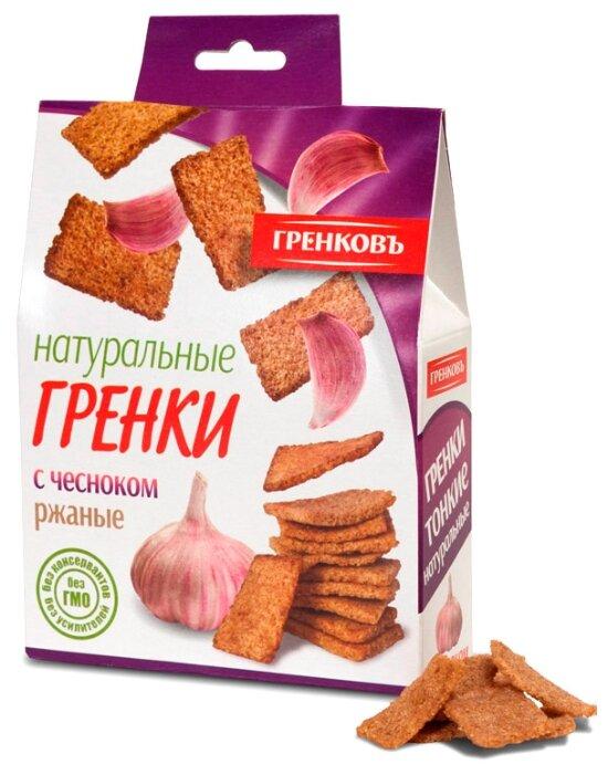 ГРЕНКОВЪ Сухарики-гренки ржано-пшеничные с чесноком, 70 г