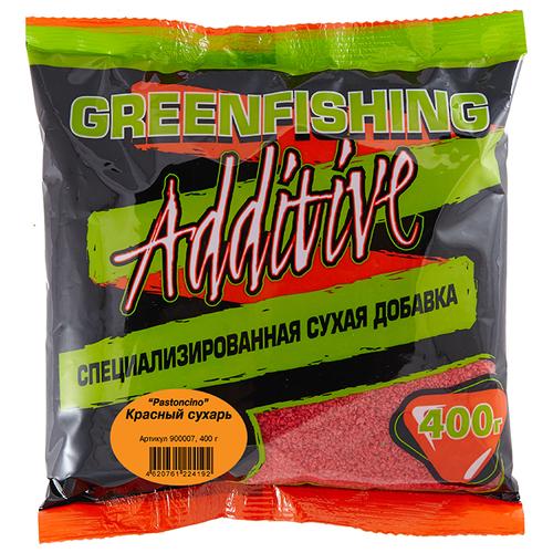Прикормочная смесь Greenfishing Additive Сухарь Pastoncino 400 г красный