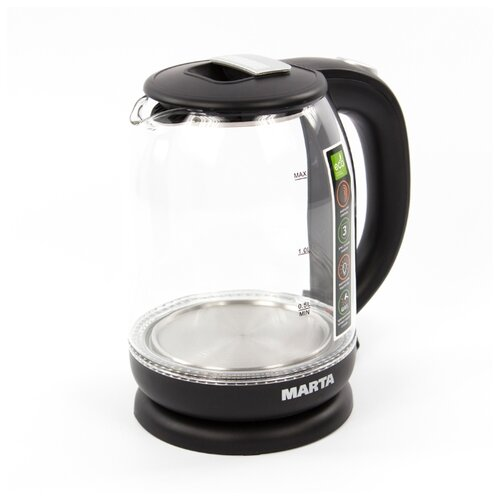 Чайник Marta MT-1096, черный жемчуг сэндвичница marta mt 1756 черный жемчуг