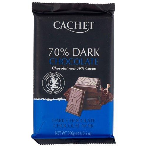 Шоколад Cachet горький 70 %, 300 г шоколад cachet bio organic элитный бельгийский горький 85% какао танзания 100 г
