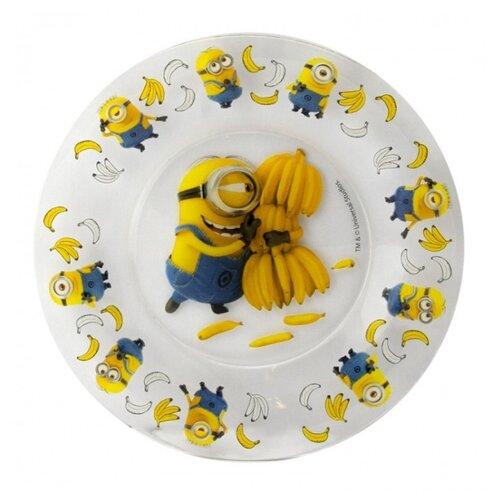 ОСЗ Тарелка десертная Миньоны 19.6 см прозрачный/желтый/синий