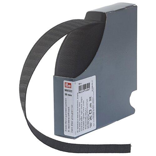 Купить Prym Эластичная лента с поперечной стабильностью (950322), черный 3 см х 10 м, Технические ленты и тесьма