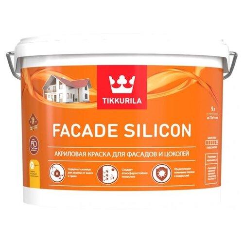 Краска силиконовая Tikkurila Facade Silicon матовая белый 9 л 1 (A/BW) краска интерьерная tikkurila joker a 9 л