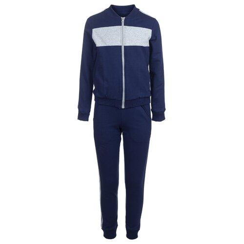 Купить Спортивный костюм M&D размер 128, темно-синий, Спортивные костюмы