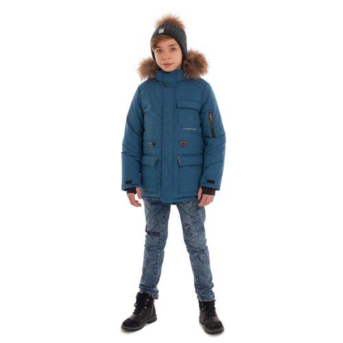 Купить Парка Stella М-467 размер 164, светло-синий, Куртки и пуховики